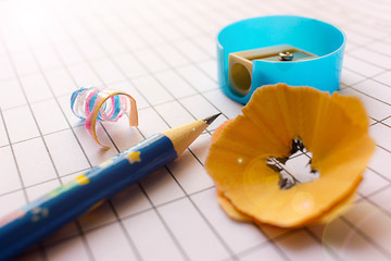 Pencil and pencil sharpener