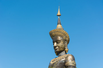 The Black Big Tammaracha buddha statue in Petchabun province, Th