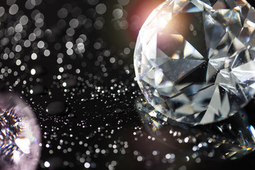 colorful diamonds and bokeh background
