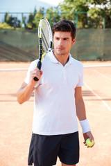 Young tennis man
