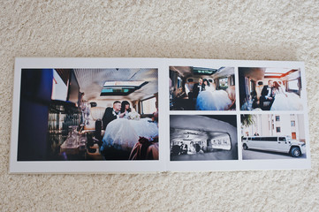 Wedding photo album 30x40. Dual pages of photo book elegance wed