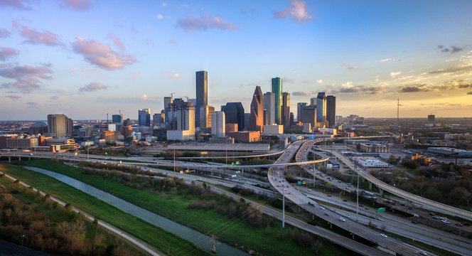 Houston Skyline from the air