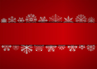 red christmas background with space
