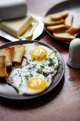 fried eggs