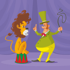 lion and tamer