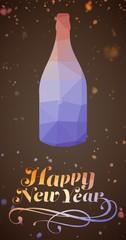 Composite image of elegant happy new year