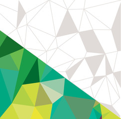 Abstract geometric background green. Vector illustration.
