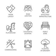 Nine development of urban and road infrastructure logo