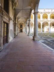 Der Innenhof der Kirche San Francesco Borgia, Catania, Provinz Catania Sizilien, Italien, Europa
