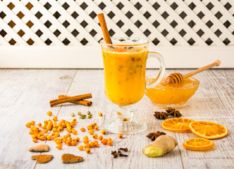 sea buckthorn tea with honey