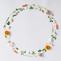 Creative arrangement made of natural summer things
