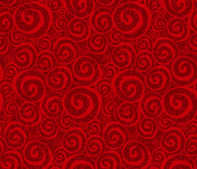spiral red vector seamless pattern