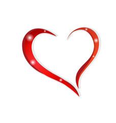 Valentines symbol love heart logo vector