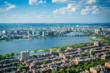View of Back Bay and the Charles River, in Boston, Massachusetts