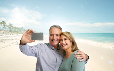 Mature couple selfie.