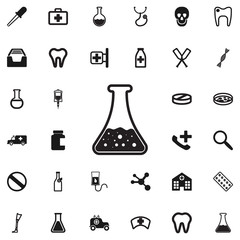 Test tube Icon Vector Illustration on the white background.