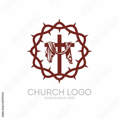 Church Logo Christian Symbols Crown Of Thorns Savior Jesus Christ