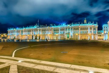 Facade of the Winter Palace, Hermitage Museum, St. Petersburg, R