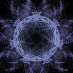 Dunkler kreativer Hintergrund mit Fraktal - lila
