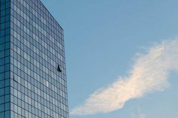 Window on a Blue Skyscraper