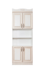 Furniture. Wooden cupboard on a white