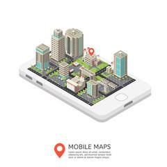 Mobile Maps Isometric Design