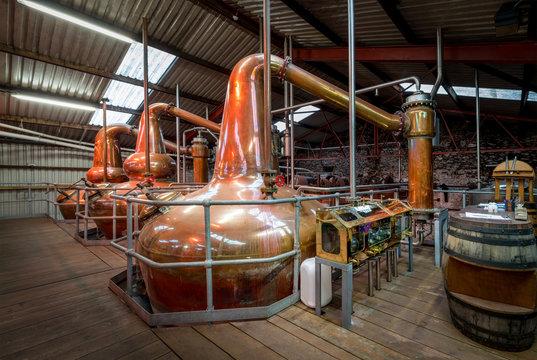 brewery distillery interior beer making whiskey