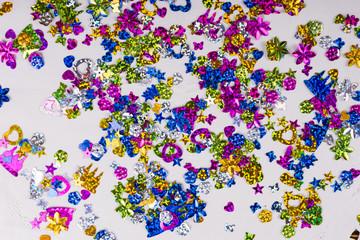 Colorful explosion of confetti