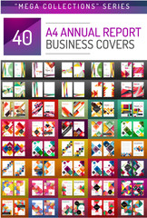 Mega collection of 40 business annual report brochure templates