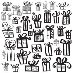 Gift box set different styles.