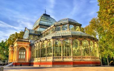 Palacio de Cristal in Buen Retiro Park - Madrid, Spain