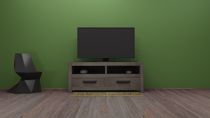 TV display 3D rendering