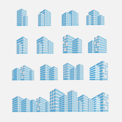 set of building icon vector illustration