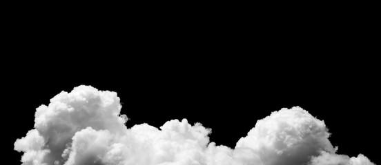 Keuken foto achterwand Hemel Clouds on black background