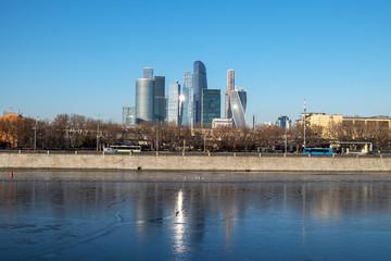 Вид на Деловой центр Москва-Сити