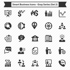 Smart Business Icons - Gray Series (Set 2)