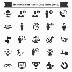 Smart Business Icons - Gray Series (Set 3)