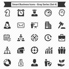 Smart Business Icons - Gray Series (Set 4)