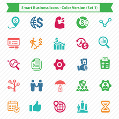 Smart Business Icons - Color Version (Set 1)