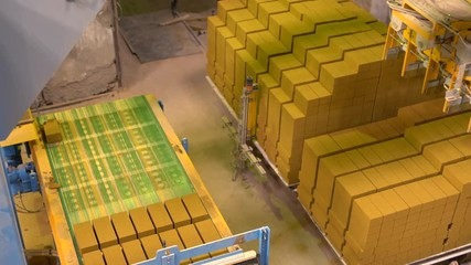 Wall Mural - View of ready-made bricks loaded on pallets