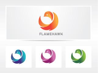 flame bird logo