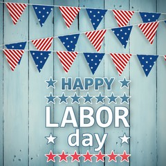 Composite image of poster of happy labor day text