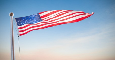 Composite image of american flag