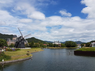 Nagasaki, Japan, September 17, 2016 : Huis Ten Bosch is a theme park in Nagasaki, Japan, which recreates the Netherlands by displaying real size copies of old Dutch buildings.