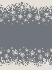 Dark grey and white Christmas snowflake banner