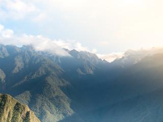 Andes Mountains Landscape at Sunrise in Cusco, Peru