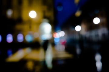 sfondo sfocato con luci della città
