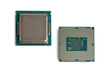 Computer Processor Chips white background