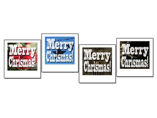 Photo frame in christmas decorated