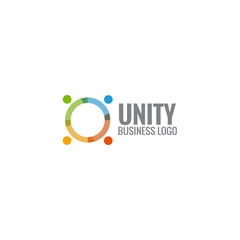 colorful unity business social concept logo icon